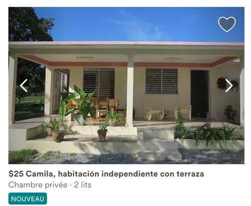 Lien vers la page Airbnb de Camila