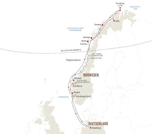 Hurtigruten ab Hamburg 2022