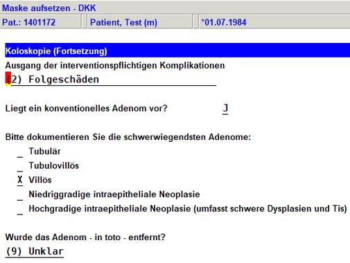 Praxissoftware Praxis Software Praxisprogramm Praxis Programm Software für Praxis Arztsoftware PVS Darmkrebsfrüherkennung Dokumentationsbogen DKI DKK