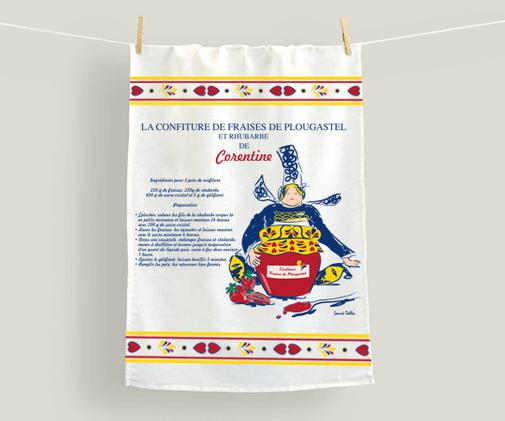 LSZ Communication-Graphiste-Directrice artistique freelance Nantes-BOUCHARA- Illustration-Torchons recette - Bretonne - Textile - linge de table et maison