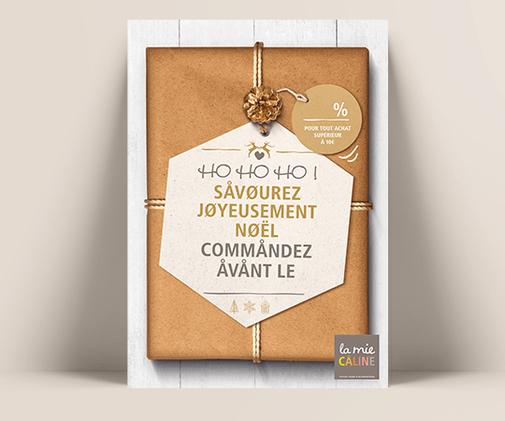 LSZ Communication - Graphiste freelance Nantes -La Mie Caline - Affiches Noel 2019- Alimentaire-Commandes