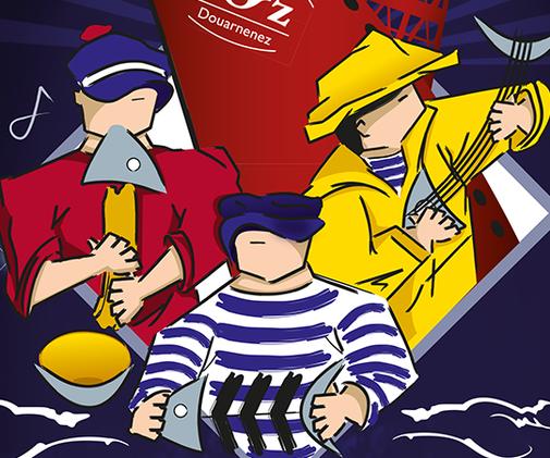 LSZ Communication-Graphiste-Directrice artistique freelance Nantes-LES VENDREDI DU PORT RHU-DOUARNENEZ-Illustration-Affiche