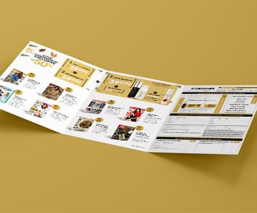 LSZ Communication - Graphiste - Directrice artistique freelance Nantes - #lepetitoiseaudelacom - Marie Claire - Multi titres - Noël 2018 - Abonnement magazines - Encart - Dépliant - Agence BY M