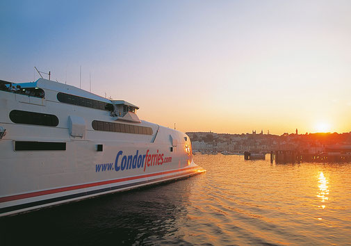 A photomontage of Condor 12 with Condor Ferries' 2003 livery. Picture Condor Ferries