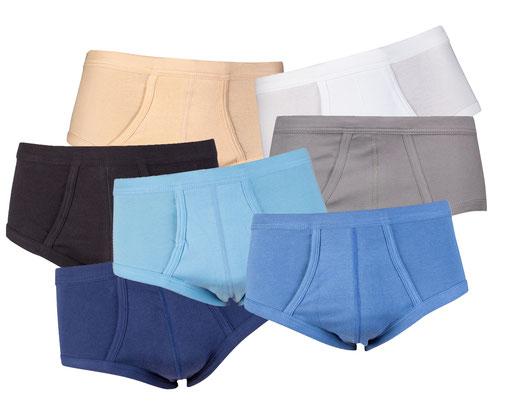 Collectie Beeren Bodywear: M3000 slips. Kleuren blauw, lichtblauw, marine, staalgrijs, wit, zwart en huid