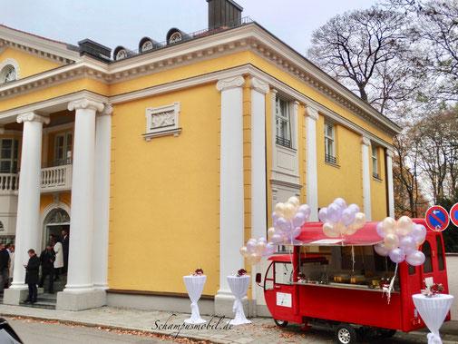 Standesamt Mandlstraße Sektempfang Hochzeit