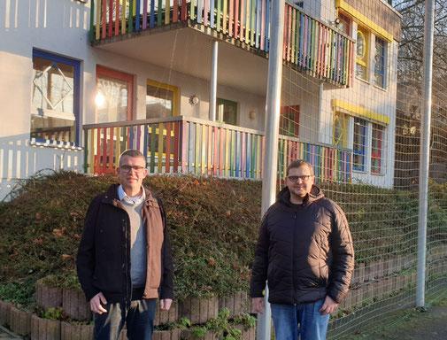 Ortsvorsteher Axel Schmidt (links) und CDU Vorsitzender Andreas Thon