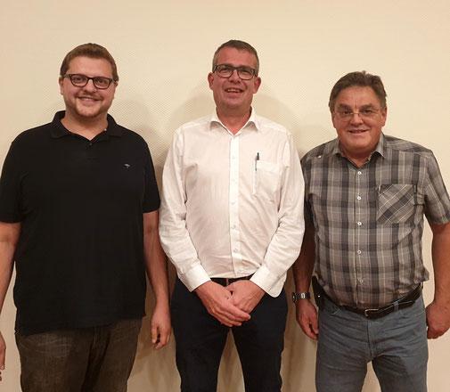 v.l.n.r. Andreas Thon, Axel Schmidt und Wolfgang Curth (Archivbild aus 2019)