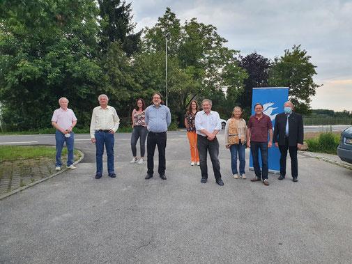 von links: Günter Schreib, Dr. Norbert Ephan, Julia Ebner-Dischinger, Martin Sigl, Carmen Prinz, Gerhard Nagl, Barbara Leon, Robert Derwart, Günther Pammer