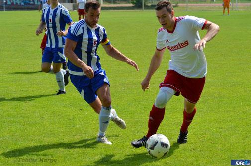Nach einem Jahr verletzungs- und berufsbedingter Pause wird Marc Beckmann (re) nun wieder im MSV-Dress auflaufen. Foto: Tobias Karge