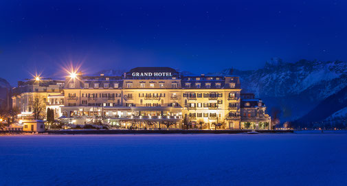 The grand hotel in Zell am See Austria