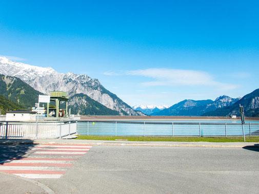 Startpunkt, der Parkplatz in Latschau am Stausee