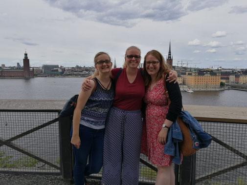 Maria Korten, Stephanie Jarvers und Anna Nick in Stockholm