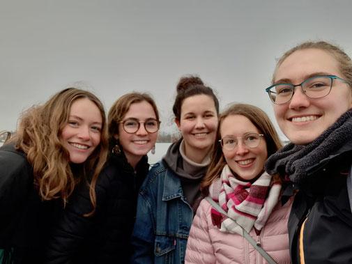 Angekommen in Uppsala: Klara, Clarita, Johanna, Hannah, Sonja (Foto: Sonja Ehrenfried)