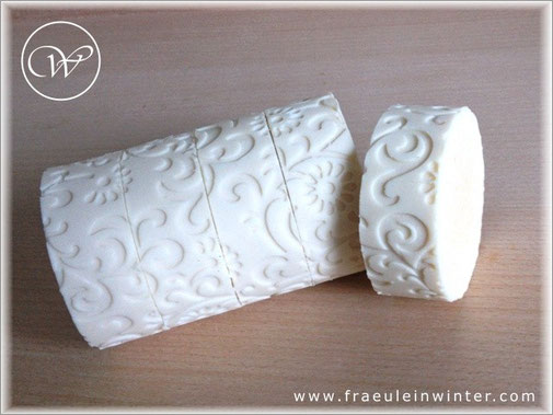 Handmade soap with milk.