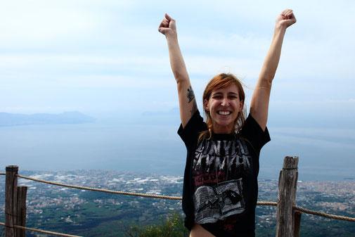 Aussicht vom Vesuv, Italienreise