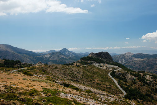 Bergstraßen Sierra Nevada, Verkehr
