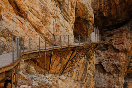Walking along the abyss at Caminito del Rey