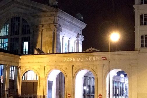 Gare du Nord, Paris, public transport to Charles de Gaulle Airport