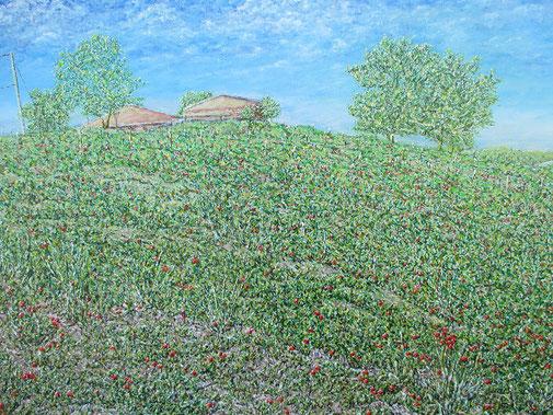 1. Los roselas,  Huile sur toile   60 x 90 cm    2018