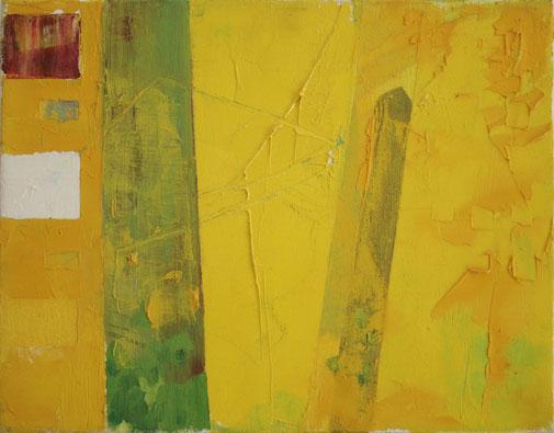 1. Pillars,  Oil on canvas     24 x 30 cm       2018