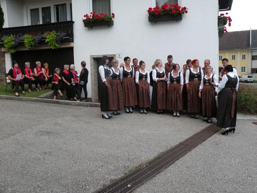 Unser befreundeter Chor, Singekreis Lieding , in Strassburg, Kärnten
