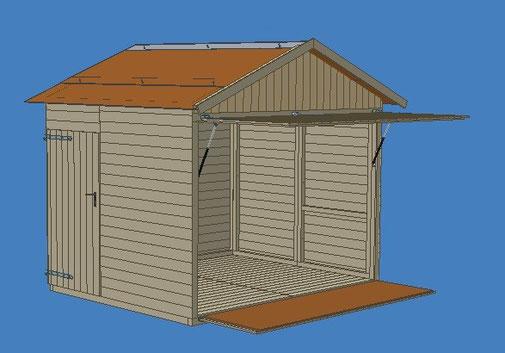 Begehbare Markthütte