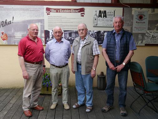 Der alte und neue Vorstand der Senioren-Union Hünfeld (von links): Werner Hegmann (1. Vorsitzender), Ewald Marschall (stellvertr. Vorsitzender), Josef Trabert (scheidender Vorsitzender),  Helmut Arnreich (scheidender Stellvertreter)