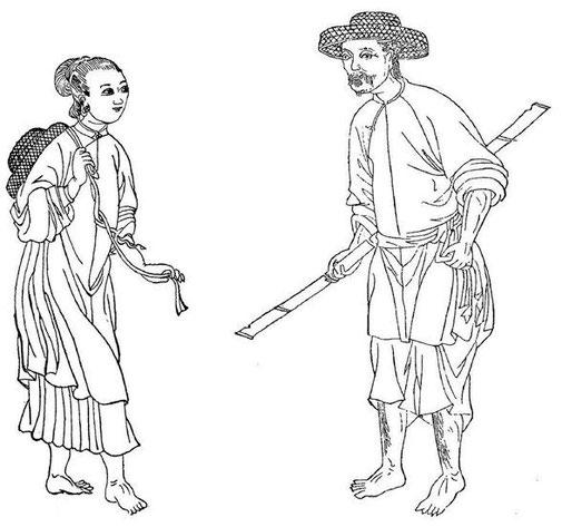 Yao, in Gabriel Devéria (1844-1899). La frontière sino-annamite. Ernest Leroux, Paris, 1886.