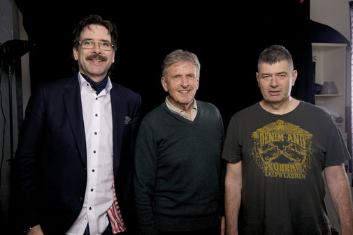 Edgar P. Lehmann mit Helmut Förnbacher und Frank Lehmann