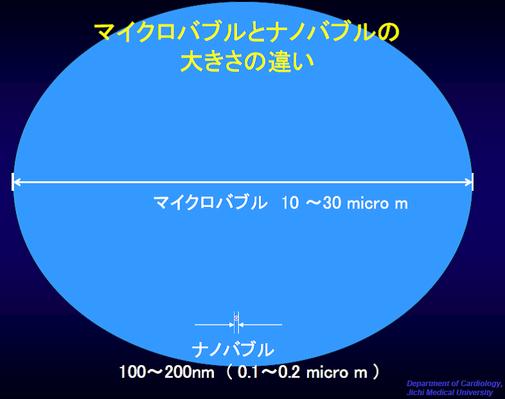 マイクロバブルとナノバブルの大きさの違い