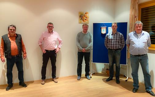 v.l.n.r. Wolfgang Curth, Axel Schmidt, Thomas Roppel, Daniel Hoffmann und Stefan Nieding