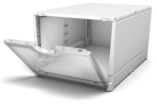 Schuhbox weiß - transparente Front