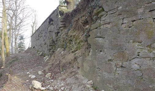 die Grundmauern heute