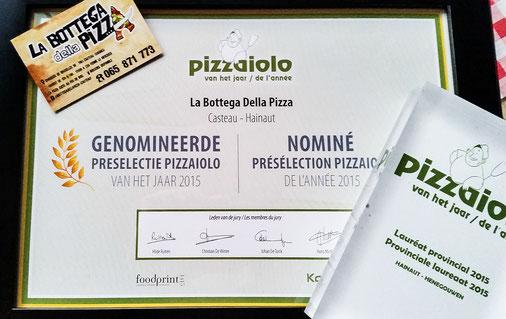 pizzaiolo de l'année 2015 hainaut belgique