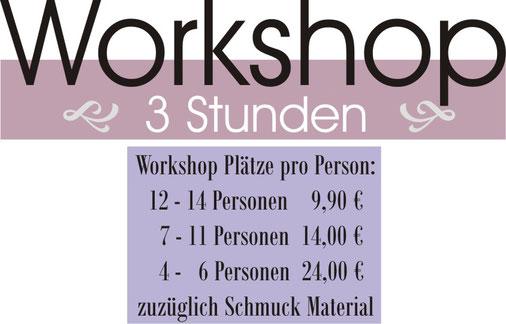 Teenagergeburtstag Düsseldorf Schmuck Workshop Preise
