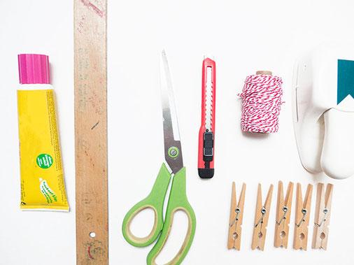 werkzeug, zutaten, adventskalender basteln, kathrins papier