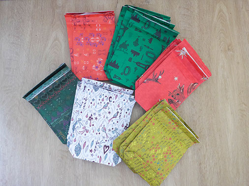 geschenkpapier, farbiges papier, auswahl, kathrins papier