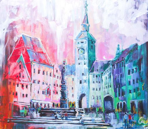 Stadtansichten-Wien-Fußgängerzone-Acryl