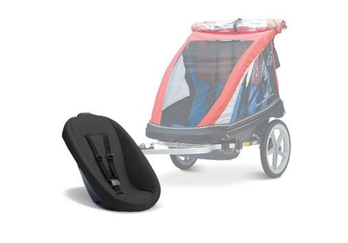Babyschale für Kinderanhänger – Lydias Fahrradverleih auf Sylt