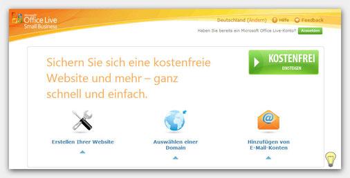 Microsoft Office Live Anmeldung