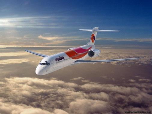 Hawaiian Boeing 717 im klassischen Farbkleid!/Courtesy: Boeing