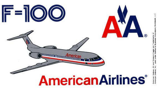 """F-100"" */Courtesy: American Airlines"