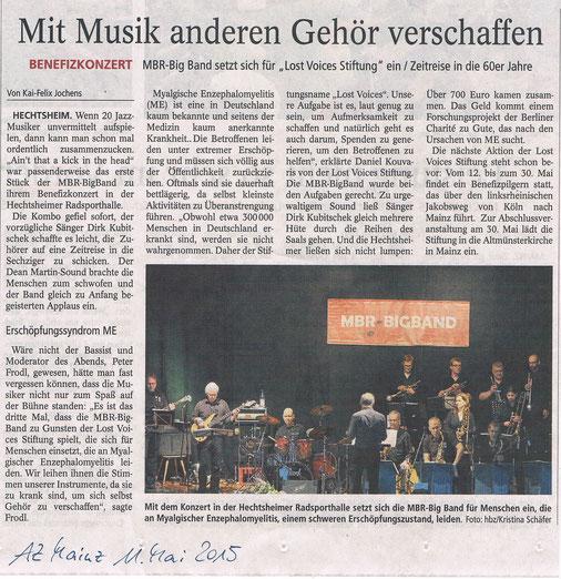 Allgemeine Zeitung Mainz vom 11. Mai 2015
