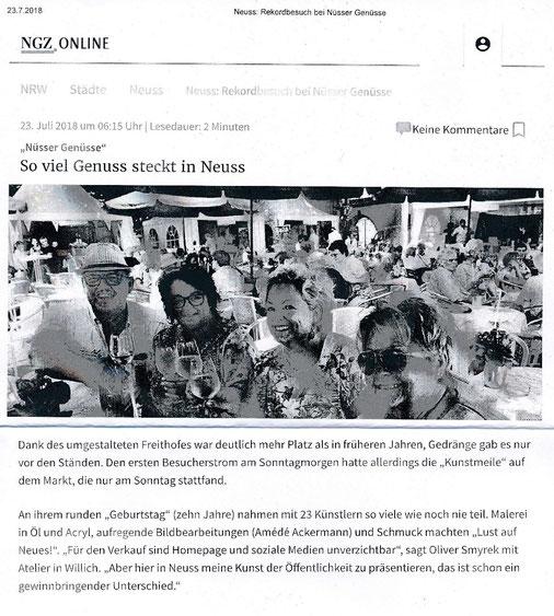 Neuss-Grevenbroicher Zeitung  23.07.2018