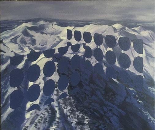 o.T., 2020, Öl auf Leinwand, 48x 54 cm