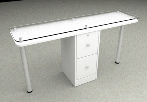 mesa manicura doble