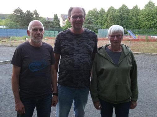 von links: Helmut Held, Michael Schaper und Ingeborg Stier
