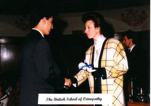 Diploma übergabe von Prinzessin Anne
