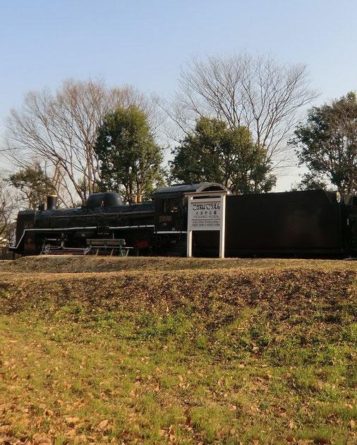2月28日(2013) 小金井公園駅(都立小金井公園のSL展示場、C57蒸気機関車)